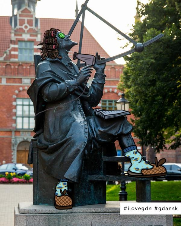 Grafiki umieszczone w mediach społecznościowych Gdańska