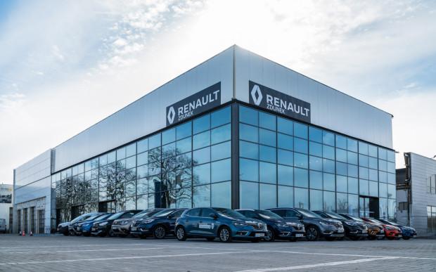 Nowy salon Renault Zdunek przy ul. Miałki Szlak w Gdańsku.