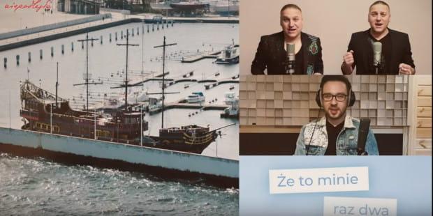 Ujęcia przedstawiają Gdynię z czasu przed i w trakcie kwarantanny.