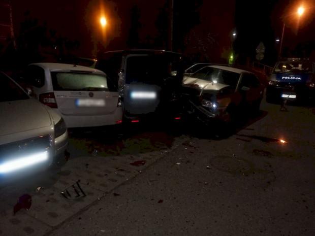 Zniszczenia dokonane przez jednego z zatrzymanych kierowców.
