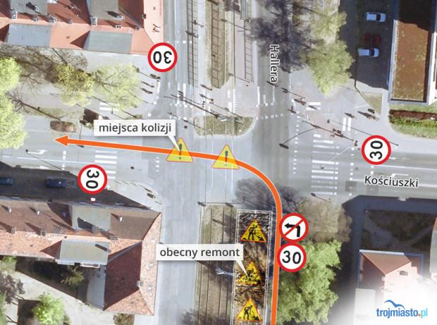 Wkrótce wokół skrzyżowania wprowadzone zostanie ograniczenie prędkości do 30 km/h.