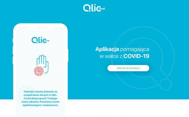 Strona startowa aplikacji QlicCOVID