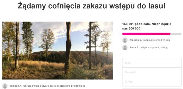 Petycja kierowana do resortu środowiska zebrała już ponad 150 tys. głosów poparcia.