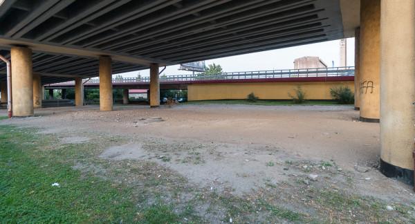 Miejsce pod Estakadą, gdzie ma powstać skatepark.