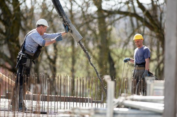Budowa Budimexu przy ul. Słowackiego, 8 kwietnia 2020