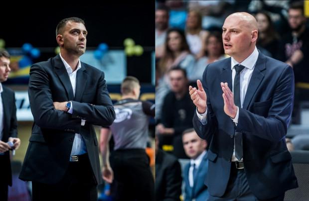 Marcin Stefański (z lewej) i Przemysław Frasunkiewicz (z prawej) poprowadzili odpowiednio Trefla Sopot i Asseco Arkę Gdynia do szóstego i czwartego miejsca w EBL.