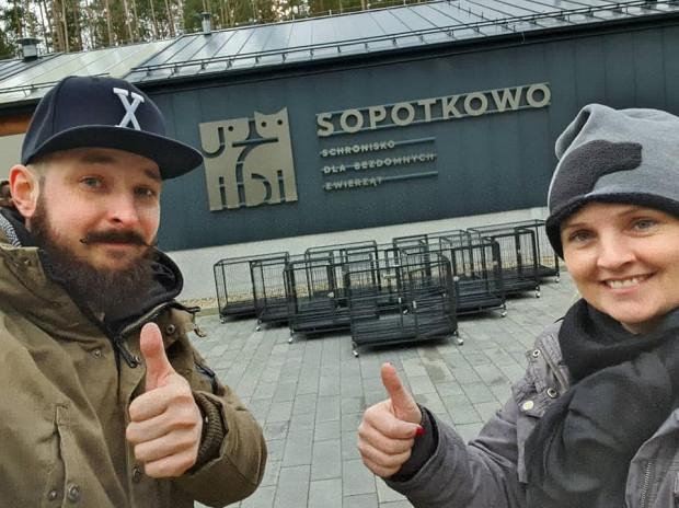 Nowe klatki dla schroniska Sopotkowo w Sopocie.