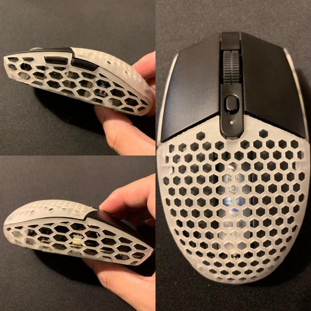 Mysz Logitech G305 z fragmentami zrobionymi za pomocą drukarki 3D, które zredukowały jej wagę do 77 gramów.
