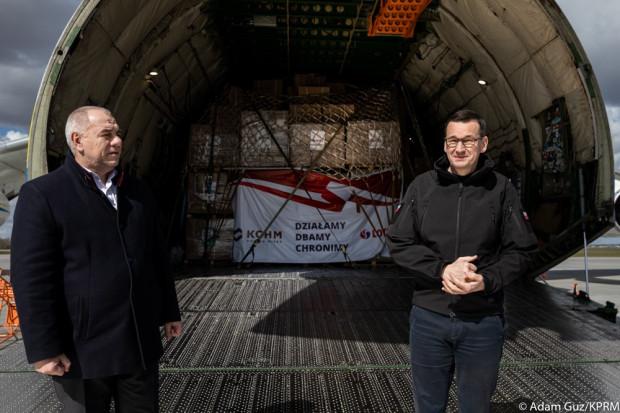 Choć materiały ochronne dostarczone do Polski z Chin są lekkie i ważą nieco ponad 90 ton (samolot może przewieźć 250 ton ładunku) to i tak ładownia An-225 Mrija była nimi wypełniona niemal w całości.
