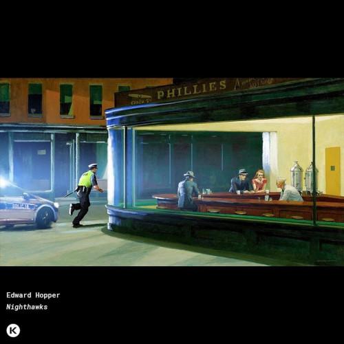 """Policjanci """"interweniują"""" na najsłynniejszych dziełach malarskich różnych artystów."""