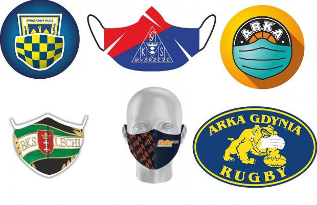 Trójmiejskie kluby promują noszenie maseczek ochronnych. Niektóre z nich mają już nawet takie w klubowych barwach jako gadżet dla kibiców.