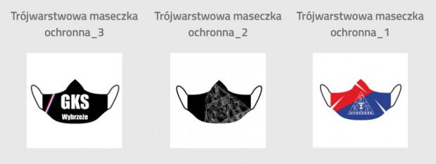 Maseczki żużlowców Zdunek Wybrzeże Gdańsk.