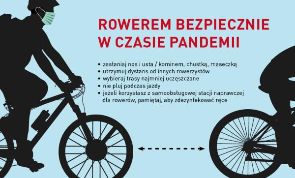 Przy zachowaniu odpowiednich środków ostrożności przemieszczanie się rowerem w trakcie pandemii jest bezpiecznym wyborem.