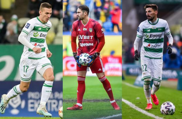 Dzięki tym piłkarzom Lechia Gdańsk i Arka Gdynia zarobią pieniądze od UEFA. Od lewej: Lukas Haraslin, Pavels Steinbors, Filip Mladenović.