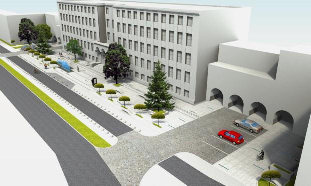 Plac przed Uniwersytetem Morskim będzie dostępny nie tylko dla studentów.