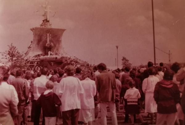 Słynna msza święta z udziałem papieża Jana Pawła II z czerwca 1987 r., która zgromadziła na Zaspie blisko milion ludzi.