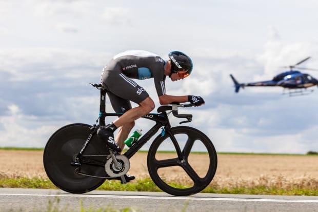 Chris Froome podczas 19. etapu Tour de France w 2012 r.