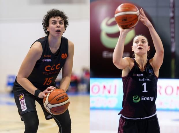 Artemis Spanou (z lewej) i Alice Kunek (z prawej) mają być nowymi koszykarkami Arki Gdynia w nowym sezonie.