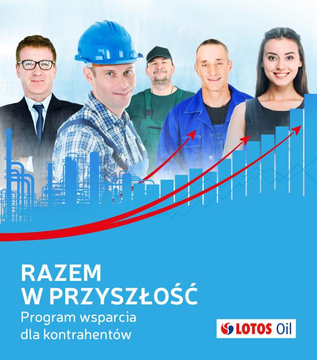 """Projekt """"Razem w przyszłość"""" zawiera całą gamę udogodnień bonusowych, rabatowych czy rozliczeniowych, które wspomogą utrzymanie płynności i miejsc pracy w firmach kooperujących z Lotos Oil."""