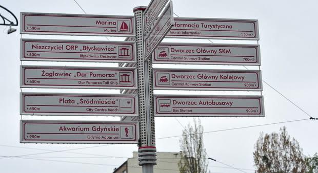 Nowe tablice w ramach gdyńskiego systemu informacji przestrzennej.