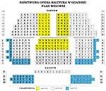 Tak wygląda podział na sektory w Państwowej Operze Bałtyckiej.