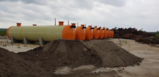 GIWK ma już osiem cylindrycznych zbiorników na ścieki o łącznej pojemności ok. 400 m sześc., które mogą być wykorzystane do zbierania deszczówki.