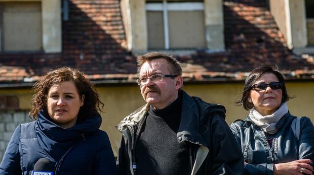 Piotr Dwojacki wielokrotnie udzielał się w sprawach dotyczących Wrzeszcza Dolnego. Nz. z Ewą Lieder (po lewej) podczas konferencji poświęconej terenom Gedanii.