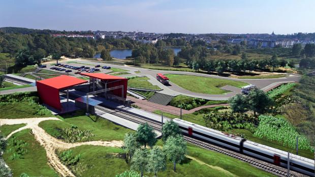 Tak po elektryfikacji będzie wyglądał przystanek Gdańsk Jasień.