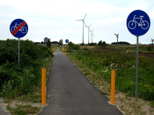 Początek trasy rowerowej