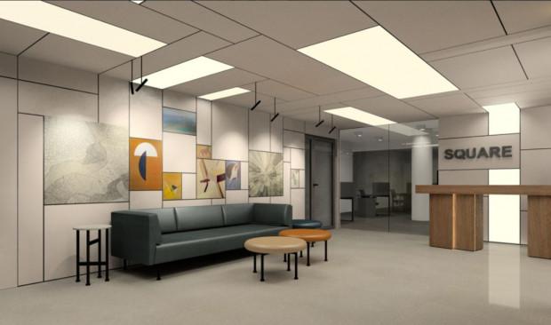 Lobby wykończone materiałami najwyższej jakości dekorowane będzie elementami sztuki nowoczesnej.
