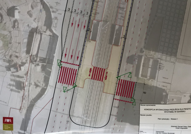W ramach inwestycji powstaną chodniki wzdłuż przystanków tramwajowych, a pasy na jezdni zostaną zwężone do trzech metrów.