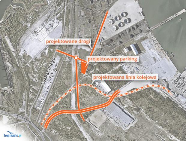 Najważniejsze zmiany w układzie dróg i torów kolejowych, prowadzących do gdańskiego portu.