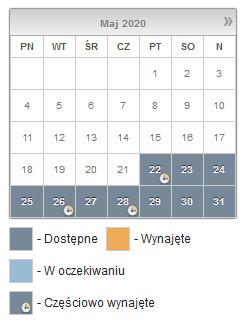 Tak wygląda kalendarz rezerwacji obiektów sportowych w Gdyni.