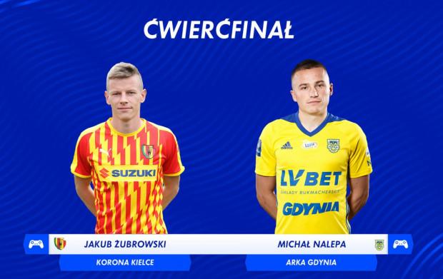 Jakub Żubrowski (Korona Kielce) pokonał Michała Nalepę (Arka Gdynia) w ćwierćfinale Canal+ Ekstraklasa Cup.