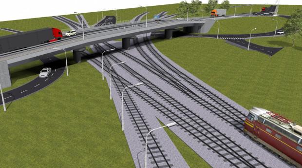 Wizualizacja wiaduktu przy ul. Ku Ujściu. Kolejarze podkreślają, że zastąpienie przejazdu kolejowo-drogowego bezkolizyjnym skrzyżowaniem poprawi bezpieczeństwo w ruchu drogowym i kolejowym oraz usprawni komunikację w mieście.