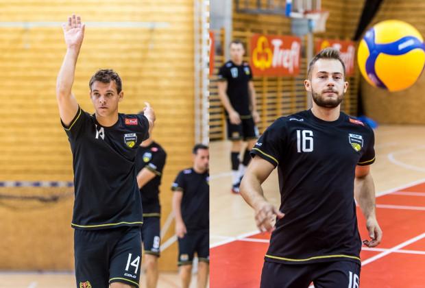 Maciej Olenderek (z lewej) i Fabian Majcherski (z prawej) to odpowiednio 4. i 5. siatkarze, którzy przedłużyli umowy z Treflem Gdańsk.