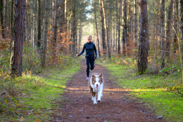 Treningi z psem są fajne, ale pilnujmy, aby nasz zwierzak nie niepokoił innych osób.