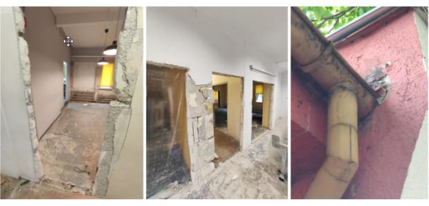Tak budynek wygląda na początku remontu.