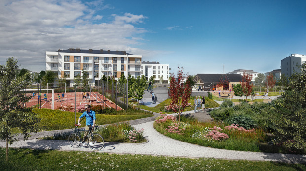 Osiedle Beauforta. Na terenie osiedla powstał ogromny teren rekreacyjno-sportowy - miejsce wypoczynku dla całych rodzin.