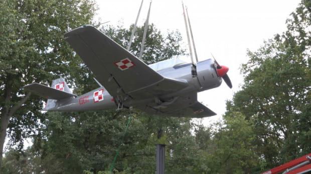 Dzięki BO udało się m.in. wyremontować samolot będący symbolem Babich Dołów.