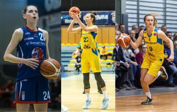 Martyna Koc (z lewej), Amalia Rembiszewska (w środku) i Kamila Podgórna (z prawej) to 3 koszykarki z trójmiejskich zespołów, które otrzymały powołania na zgrupowanie reprezentacji Polski.