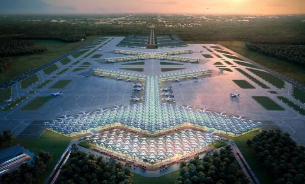 Jedna z wizualizacji prezentujących wygląd Centralnego Portu Komunikacyjnego.