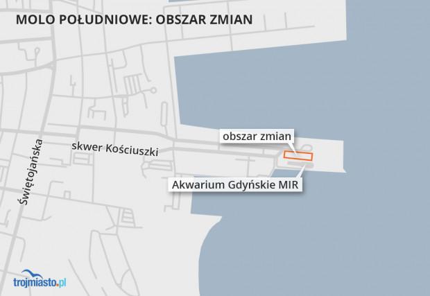 Obszar zmian w centrum Gdyni.