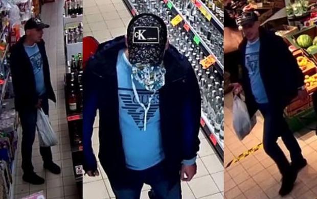 Mężczyzna poszukiwany w związku z kradzieżą alkoholu wartego ponad tysiąc złotych.