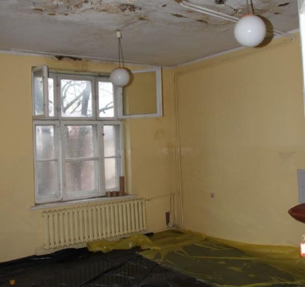 Jedno z pomieszczeń w budynku przy ul. Pniewskiego 1.