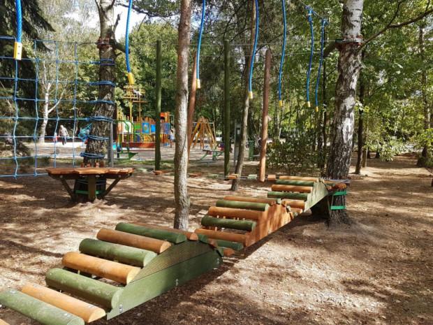 Jednym ze zwycięskich projektów jest budowa parku linowego na Dąbrowie.