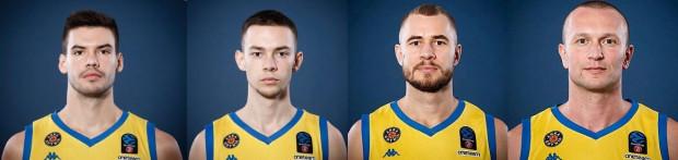 Od lewej: Wojciech Czerlonko, Mateusz Kaszowski, Bartłomiej Wołoszyn i Marcin Malczyk. Ci czterej gracze nadal będą występować w Asseco Arce Gdynia.
