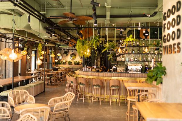 Wnętrze restauracji Woosabi.