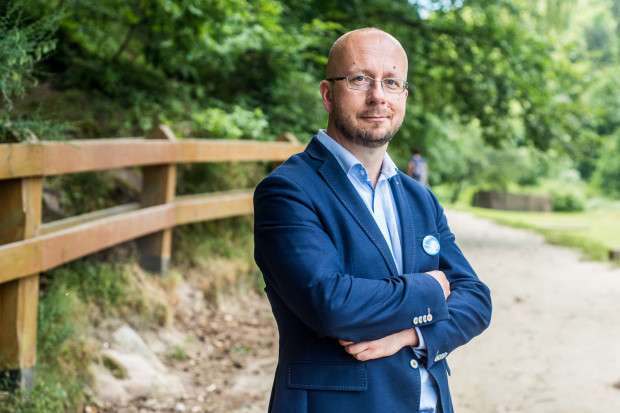 Zygmunt Zmuda-Trzebiatowski z gdyńskiego sztabu Szymona Hołowni.