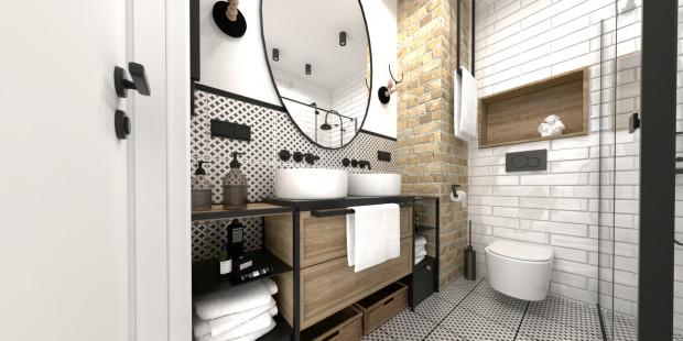 Druga koncepcja zakłada zupełnie inną, industrialną stylistykę wnętrza.